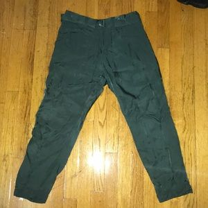 Forest Green 100% Cupro Dress pants